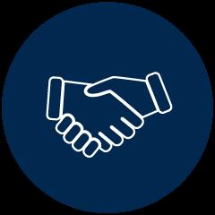 Starke Partnerschaft Icon - Ein starker Händedruck